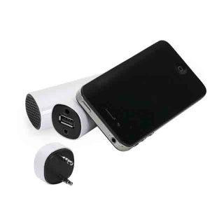 Bateria portatil com caixa de som