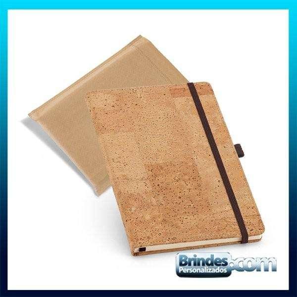 Caderno cortica com porta esferografica