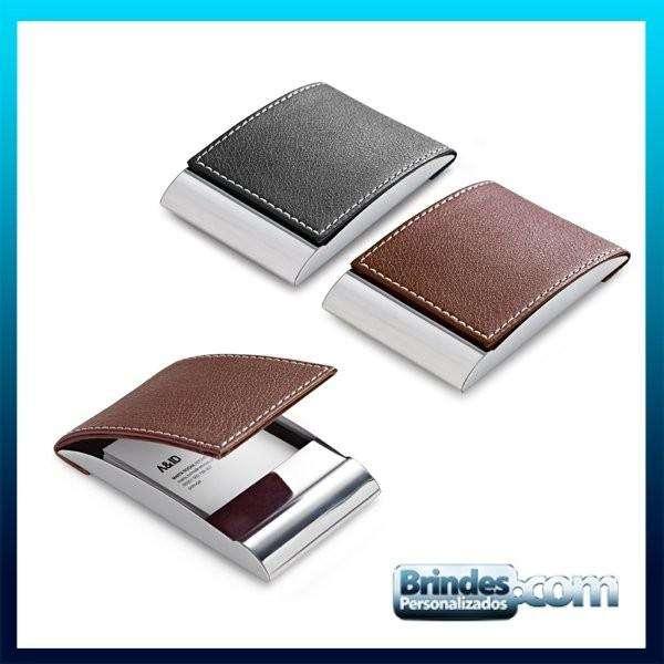 Porta Cartoes Sintetico com Metal