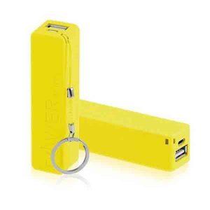 Power Bank Amarelo Personalizado