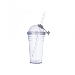 Copo Plastico 480ml com Canudo Personalizado